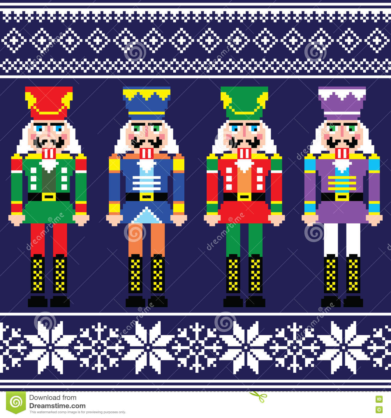 3f9bce1ec260 Christmas Jumper Or Sweater Seamless Pattern With Nutcrackers Stock ...