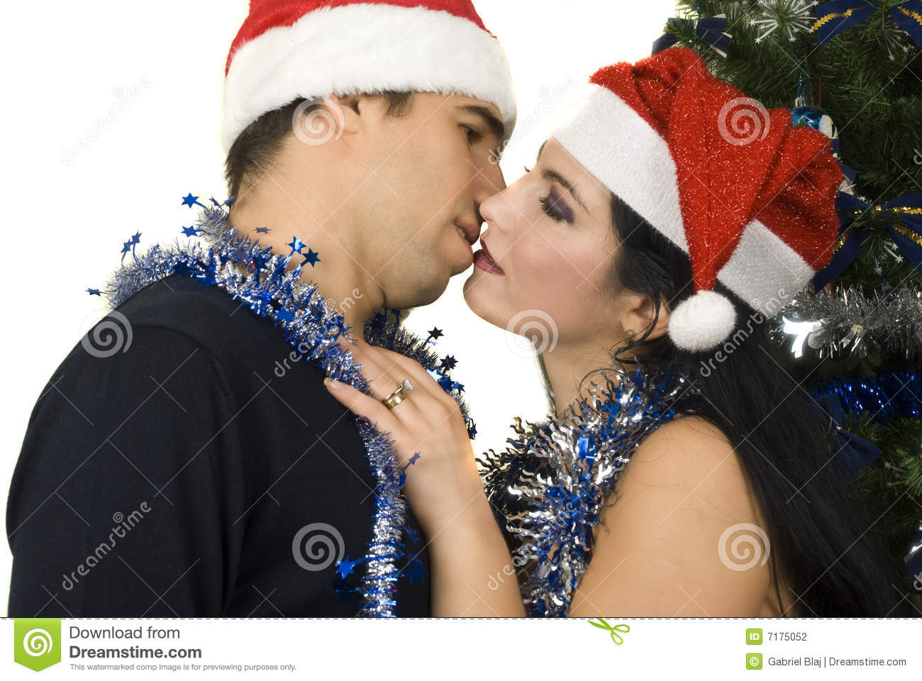 Christmas Kiss Stock Photo Image Of Bullet Attractive