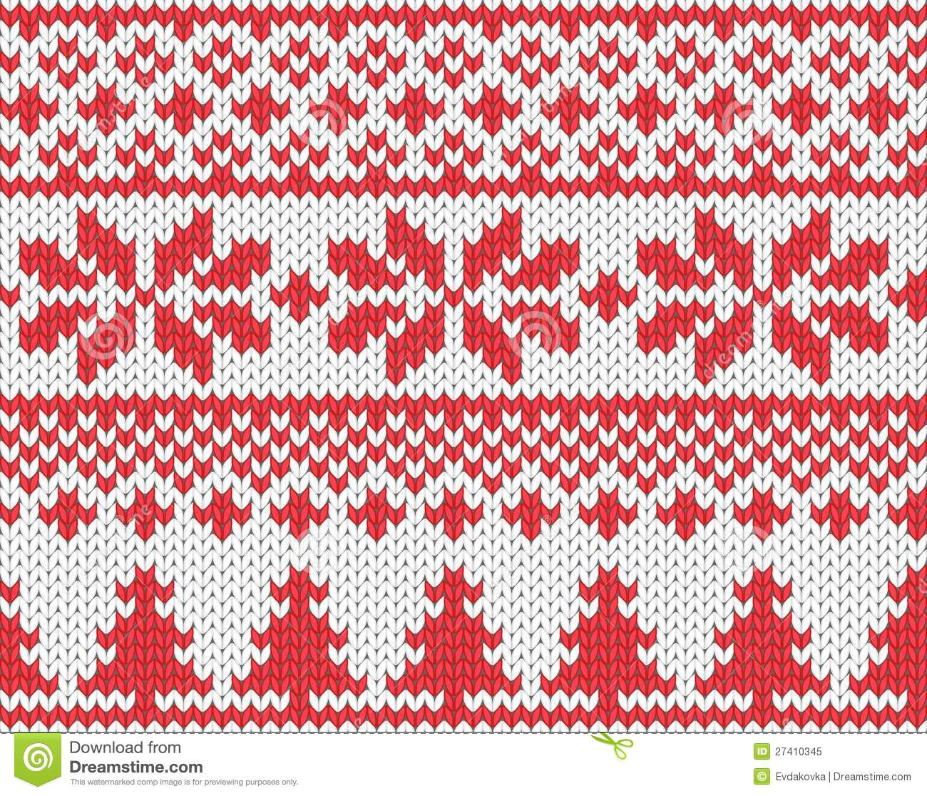 Christmas Knitting Background : Christmas knitted background stock vector image