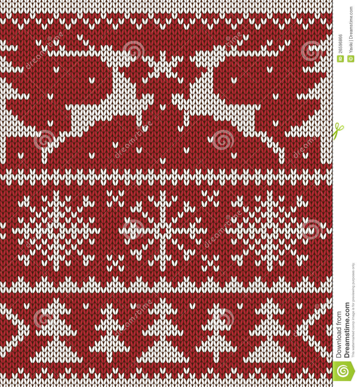 Knitted Christmas Patterns : Christmas Knitted Pattern Royalty Free Stock Image - Image: 26596866