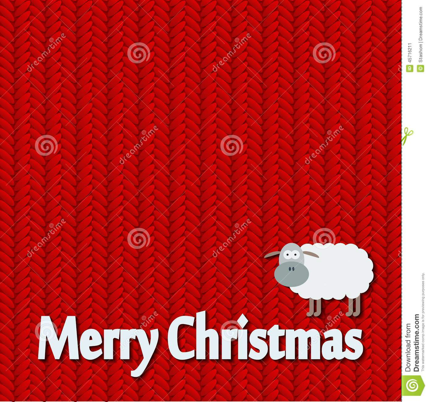 Knitting Patterns For Christmas Cards : Christmas Knitted Pattern Card With Funny Sheep. Stock Vector - Image: 45716211