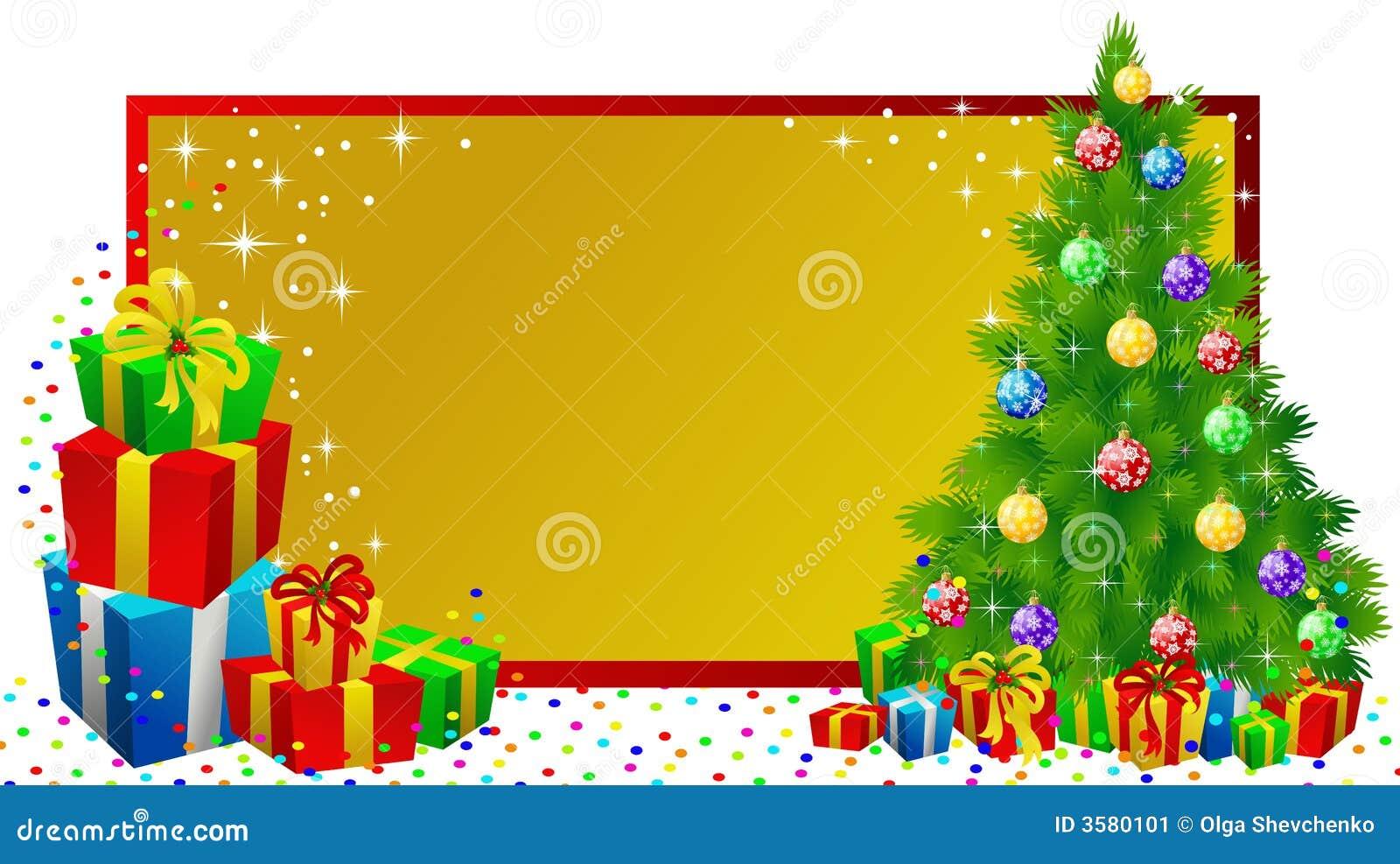 Christmas Label Gifts Stock Image - Image: 3580101