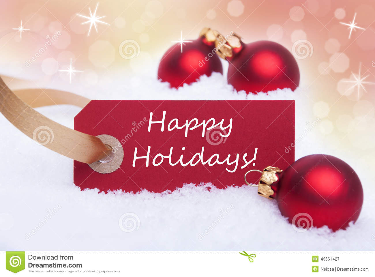 Happy Holidays And Thanks To All >> Christmas Label With Happy Holidays Stock Image Image Of