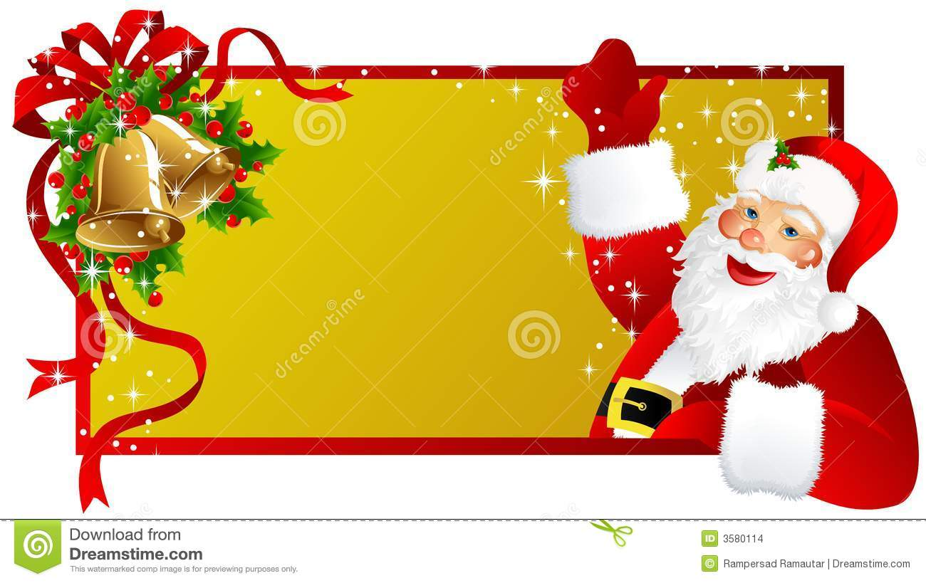christmas label santa claus stock illustration illustration of