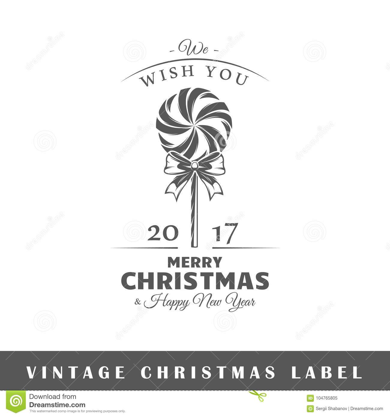 Christmas Label Template Stock Vector Illustration Of Insignia