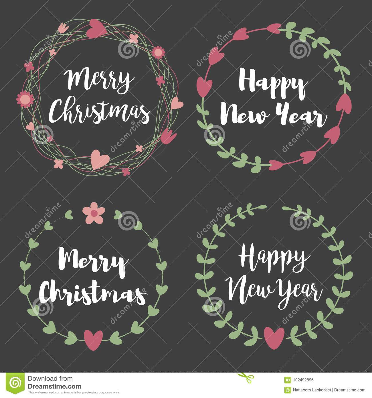 15+ Christmas & New Year Labels & Badges Design