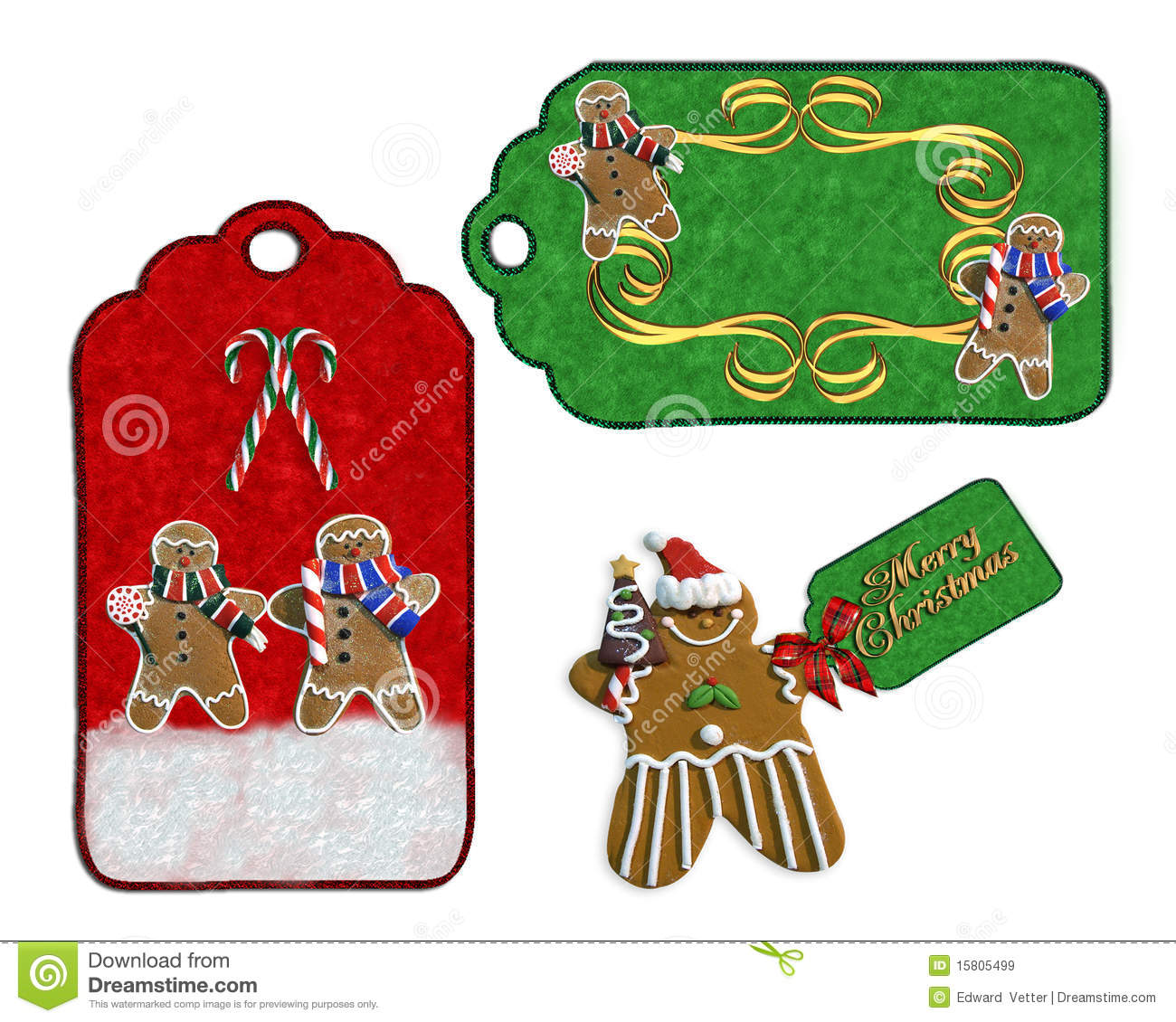 Christmas labels cookies and candy