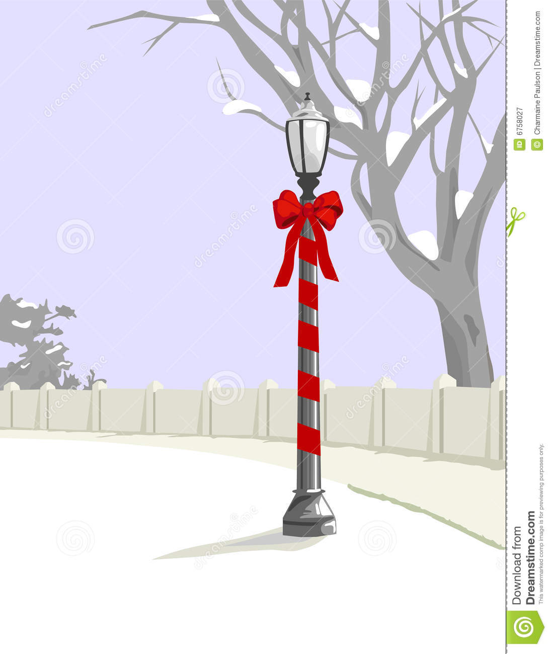Christmas Lamp Post is original artwork. The vector file is in AI-EPS8 ...