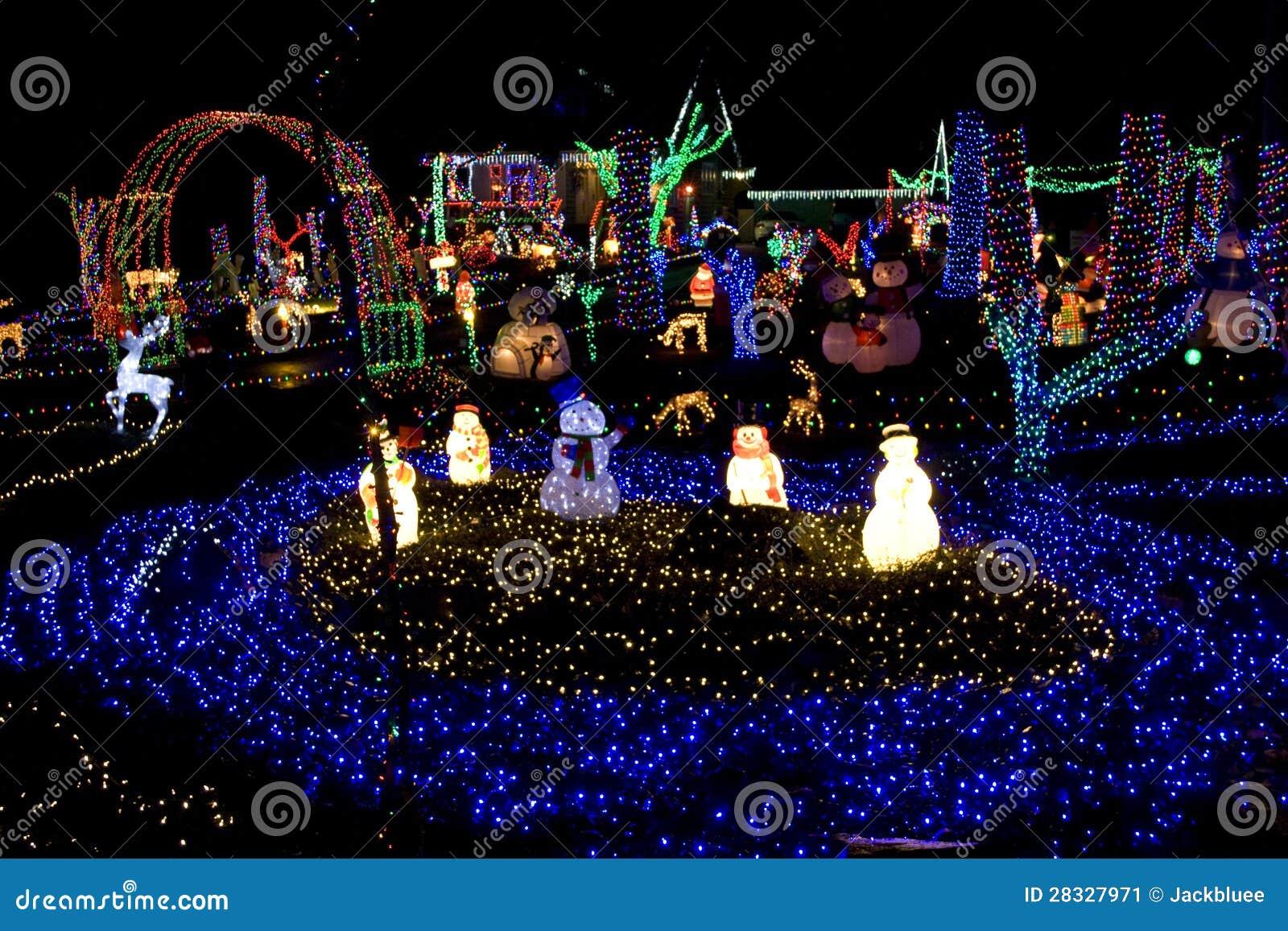 Christmas Land.Christmas Land Of Lights Stock Image Image Of Celebration