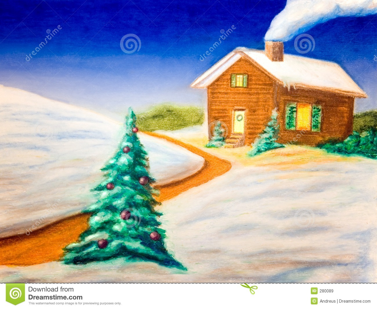 Christmas landscape royalty free stock images image 280089 for Christmas landscape images