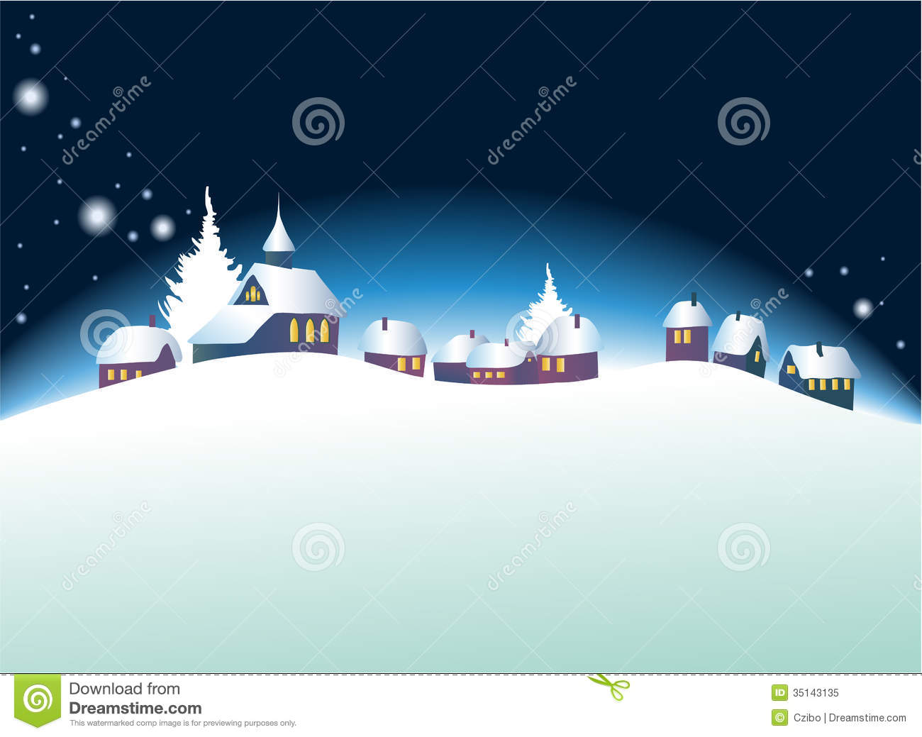 Christmas Landscape Royalty Free Stock Photo - Image: 35143135