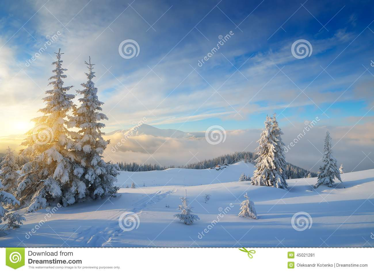 Christmas Landscape Stock Image Image Of Hill Scenic