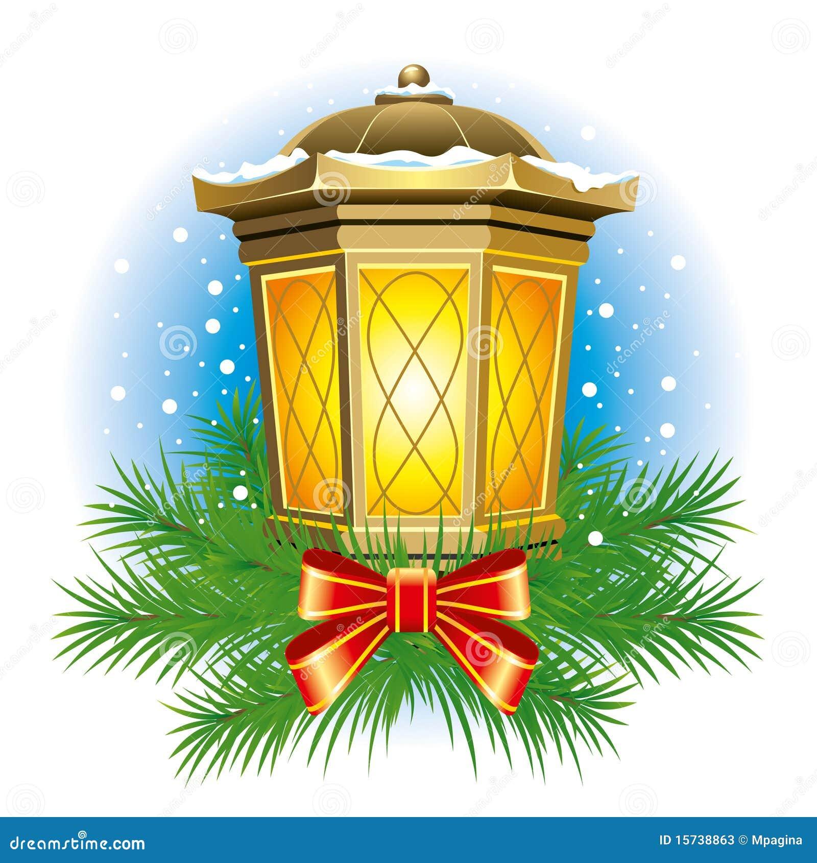 Christmas lantern stock vector. Illustration of iron ...