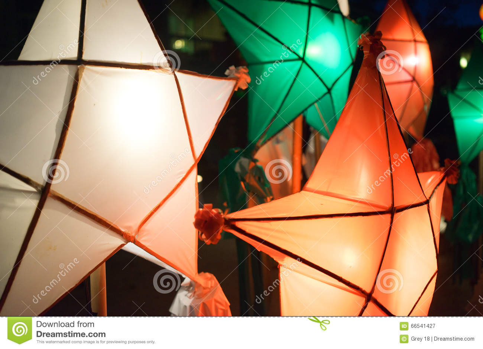 Christmas Lanterns Philippines Stock Photo - Image: 66541427