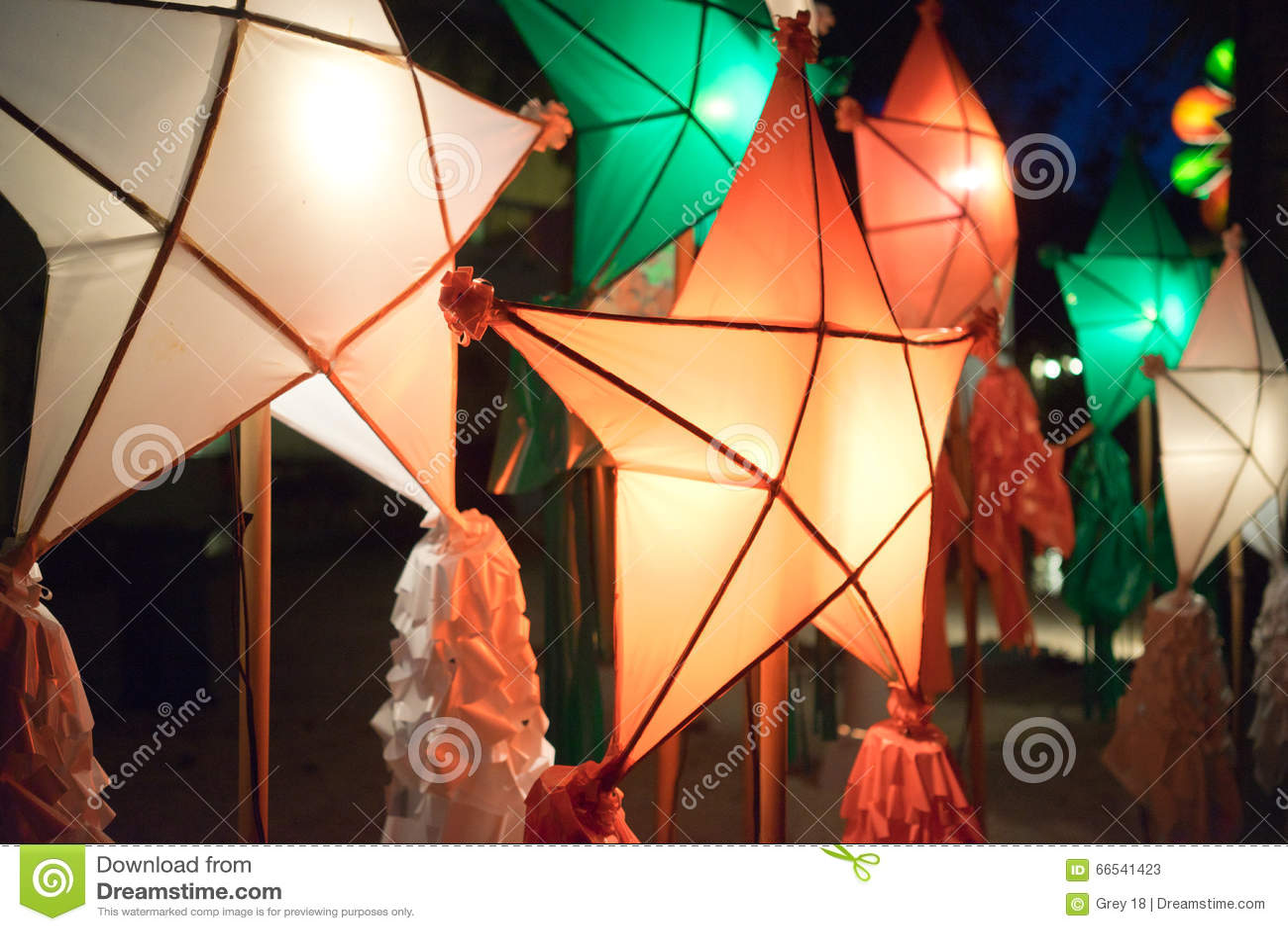 Christmas Lanterns Philippines Stock Image Image Of Native Decor