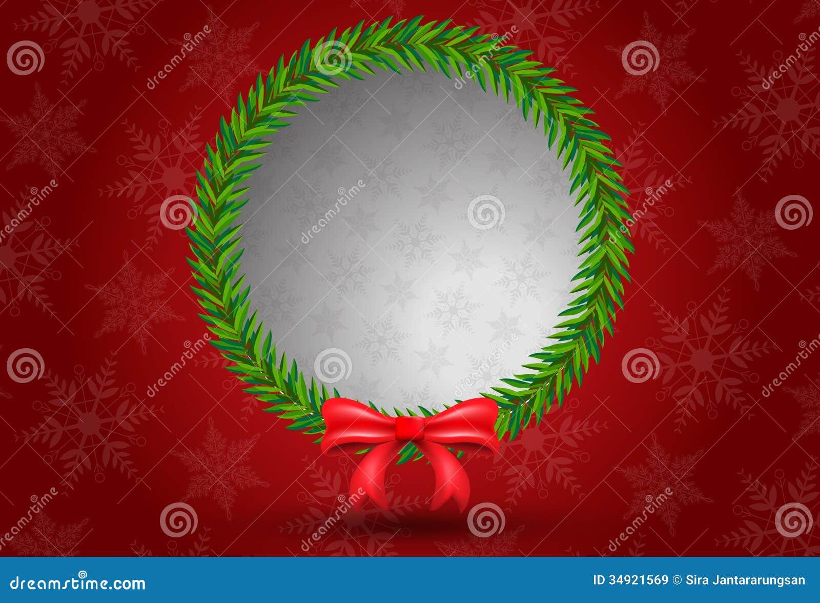 Christmas Leaf Bunch Circle Shape Royalty Free Stock
