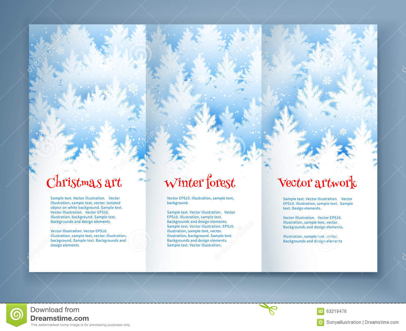 christmas leaflet design template stock vector image 63219476 christmas leaflet design template