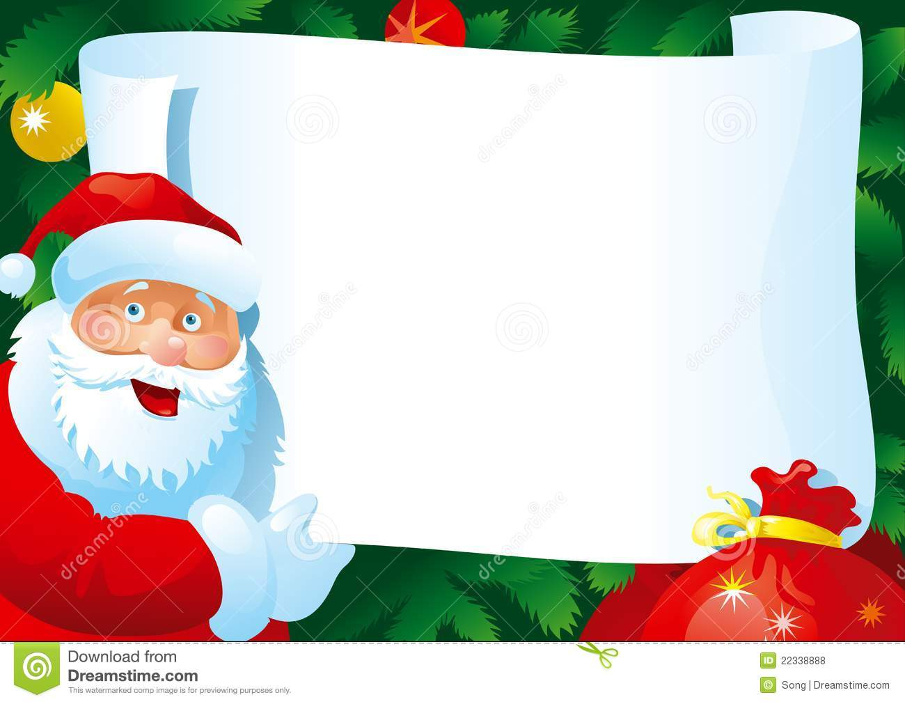 Christmas Letter Stock Vector Image Of Congratulation