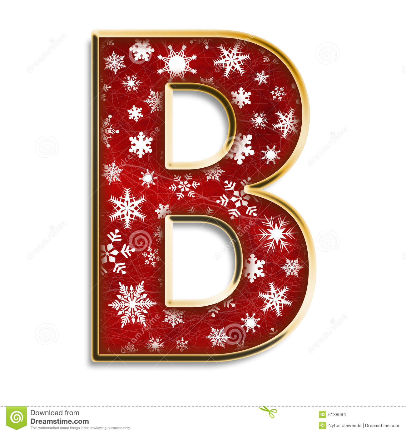 Christmas Letter B In Red Stock Images Image 6138094
