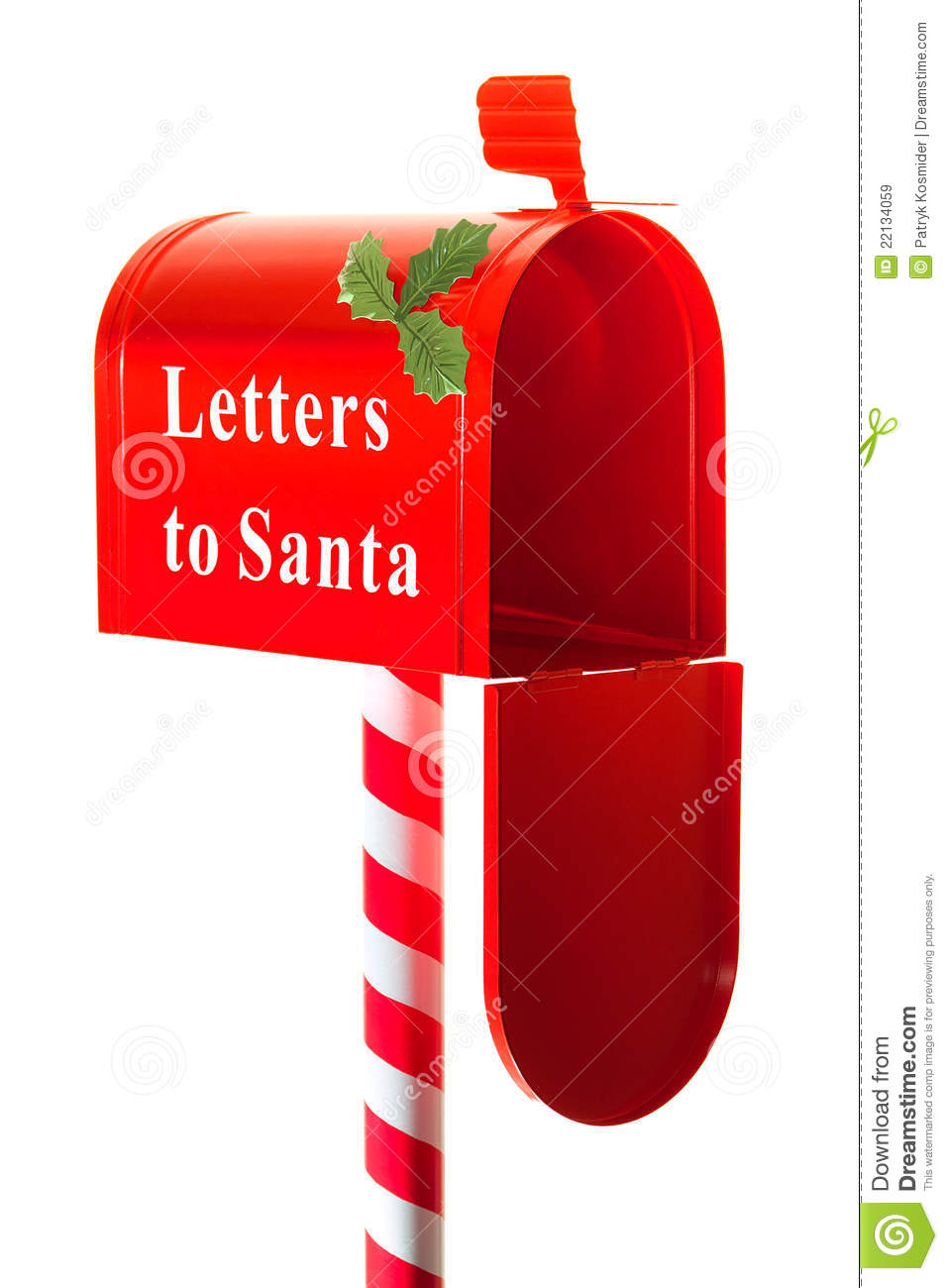 christmas letter box to santa royalty free stock images With santa letter box