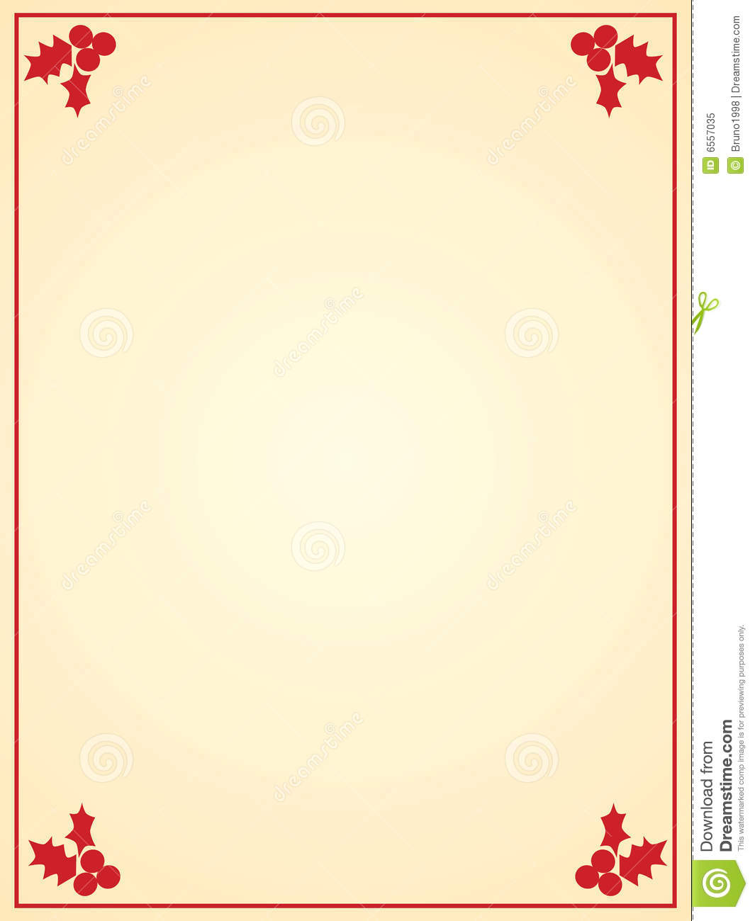 Free Christmas Letter Paper Templates Christmas letter paper royalty