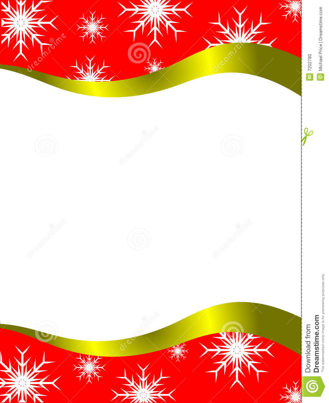 Christmas Letter Template Stock Vector Illustration Of Shape 7202780