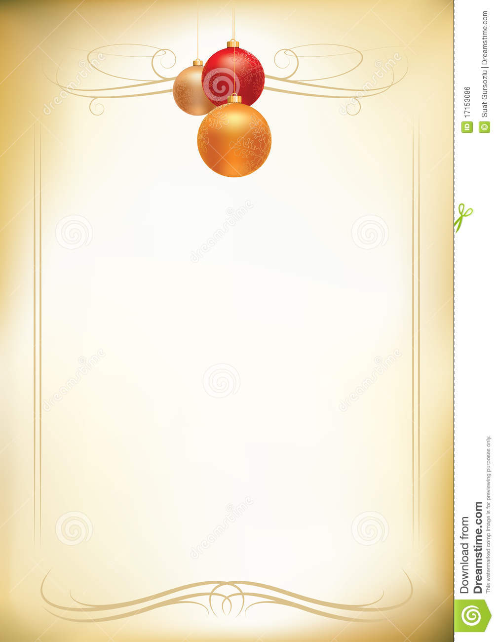 Christmas Letterhead Royalty Free Stock Image - Image: 17153086