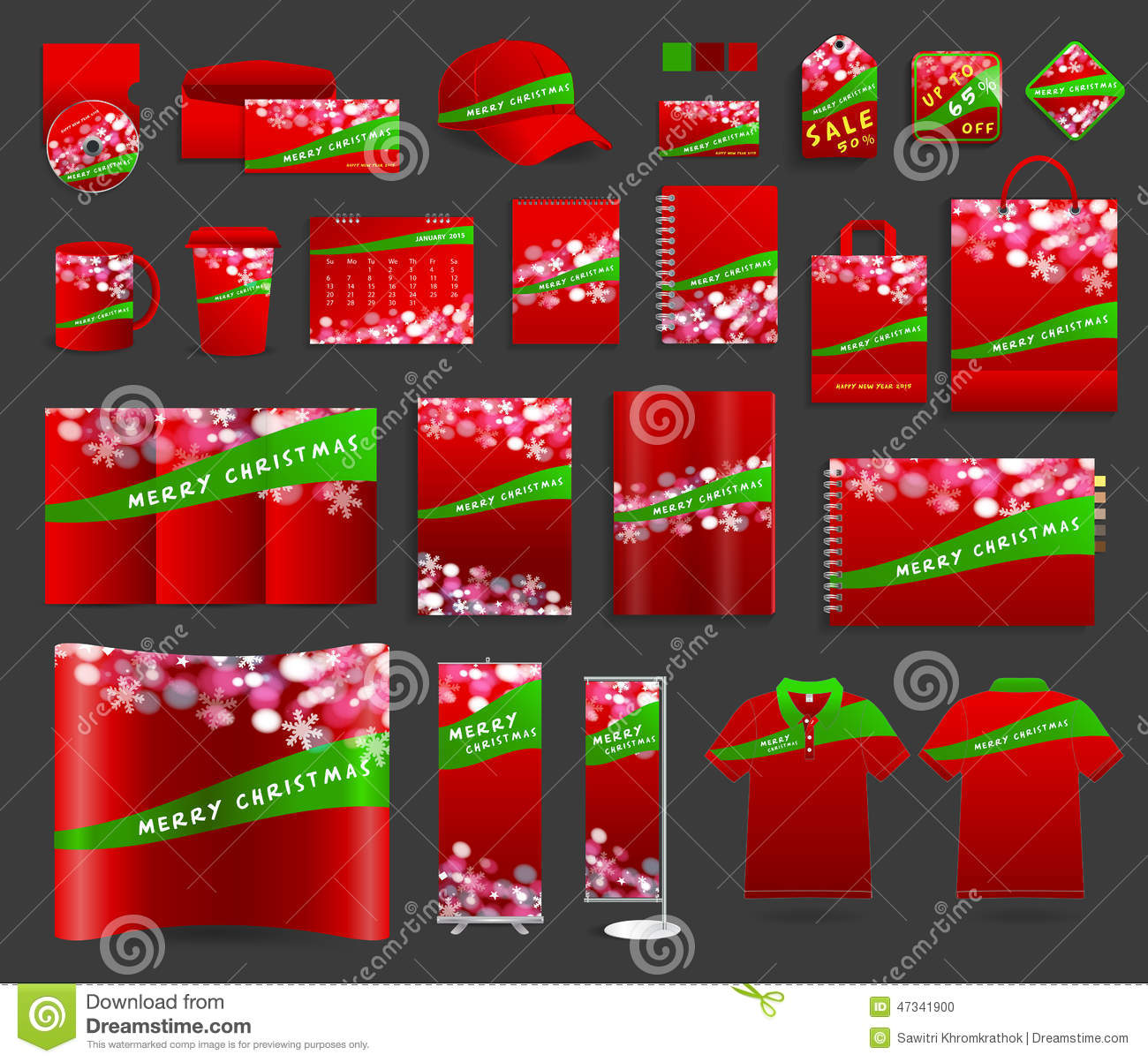 Vector Corporate Identity Templates With Merry Christmas – Blank Christmas Templates