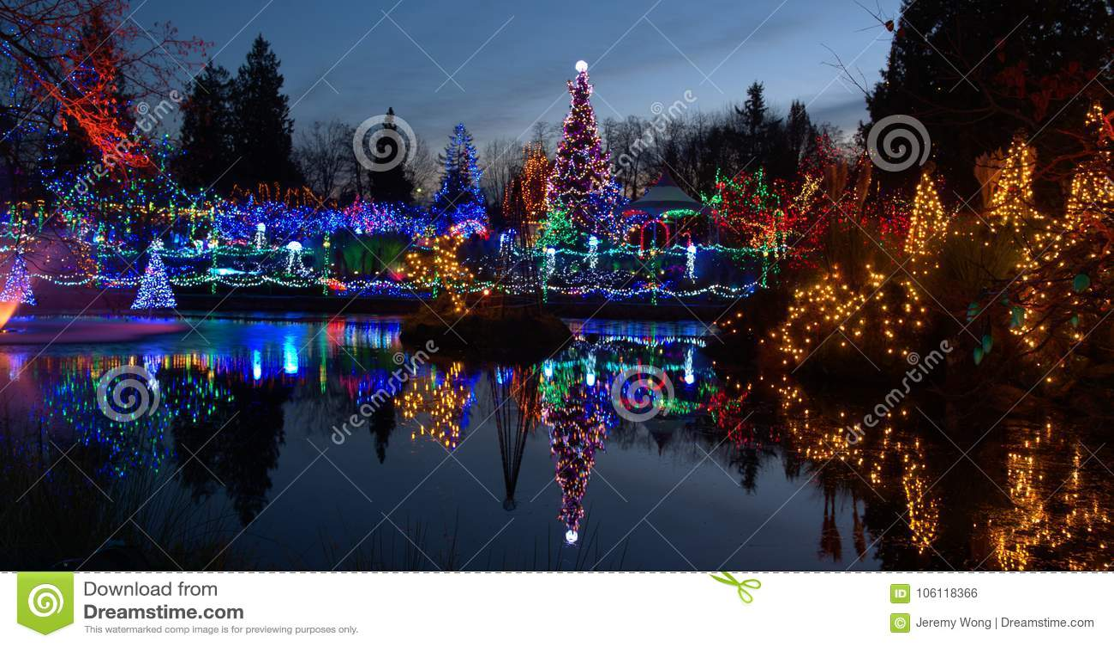 Christmas light festival