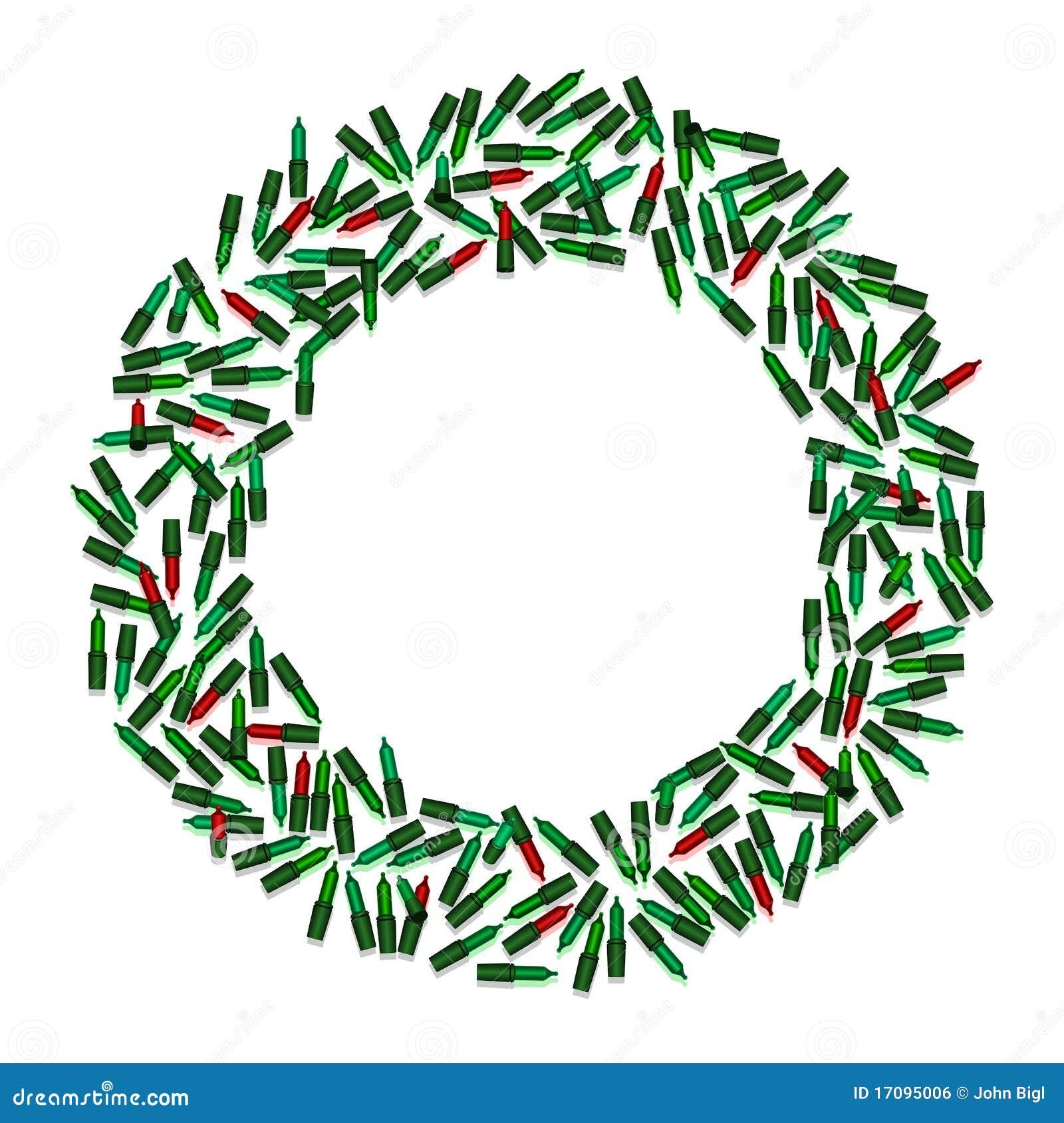 Christmas Light Wreath Royalty Free Stock Image - Image: 17095006
