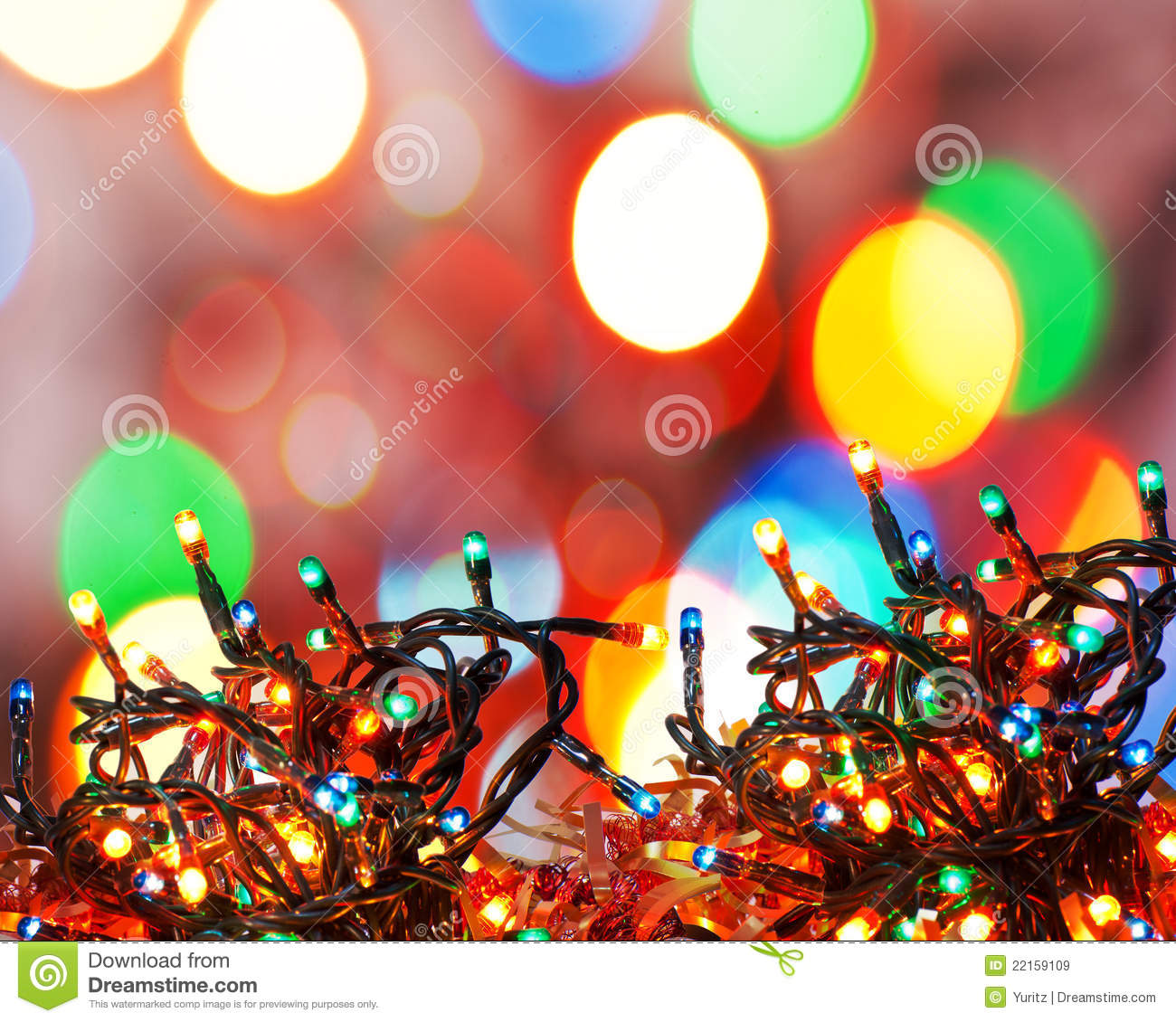 Christmas Lights Royalty Free Stock Images - Image: 22159109