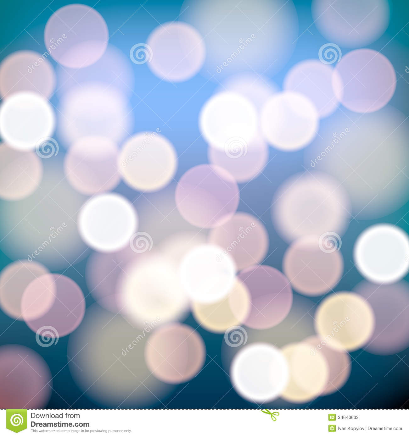 Christmas Lights Blurred Background Stock Photos - Image: 34640633