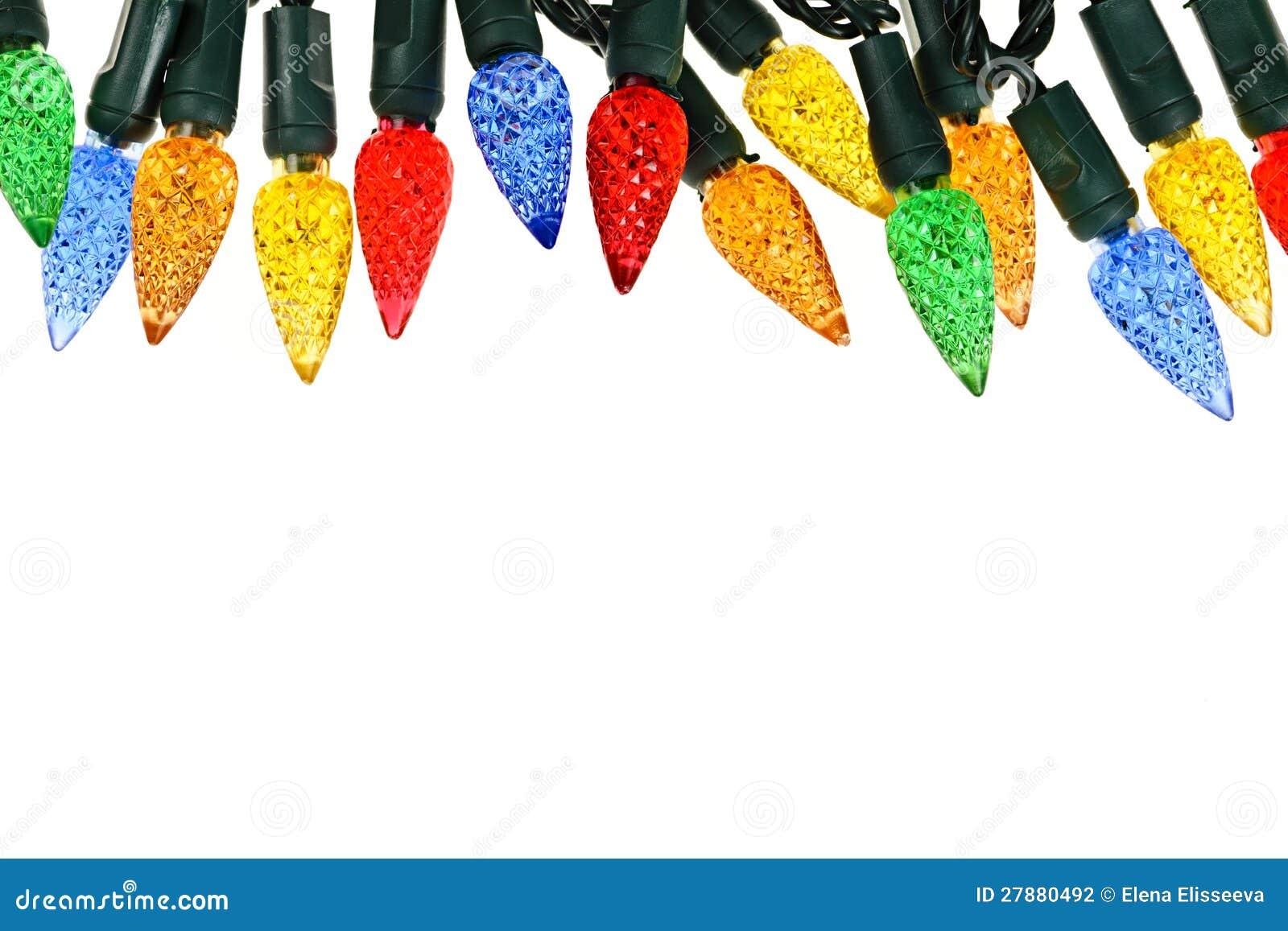 Christmas lights border stock photo. Image of bulbs, lighting - 27880492