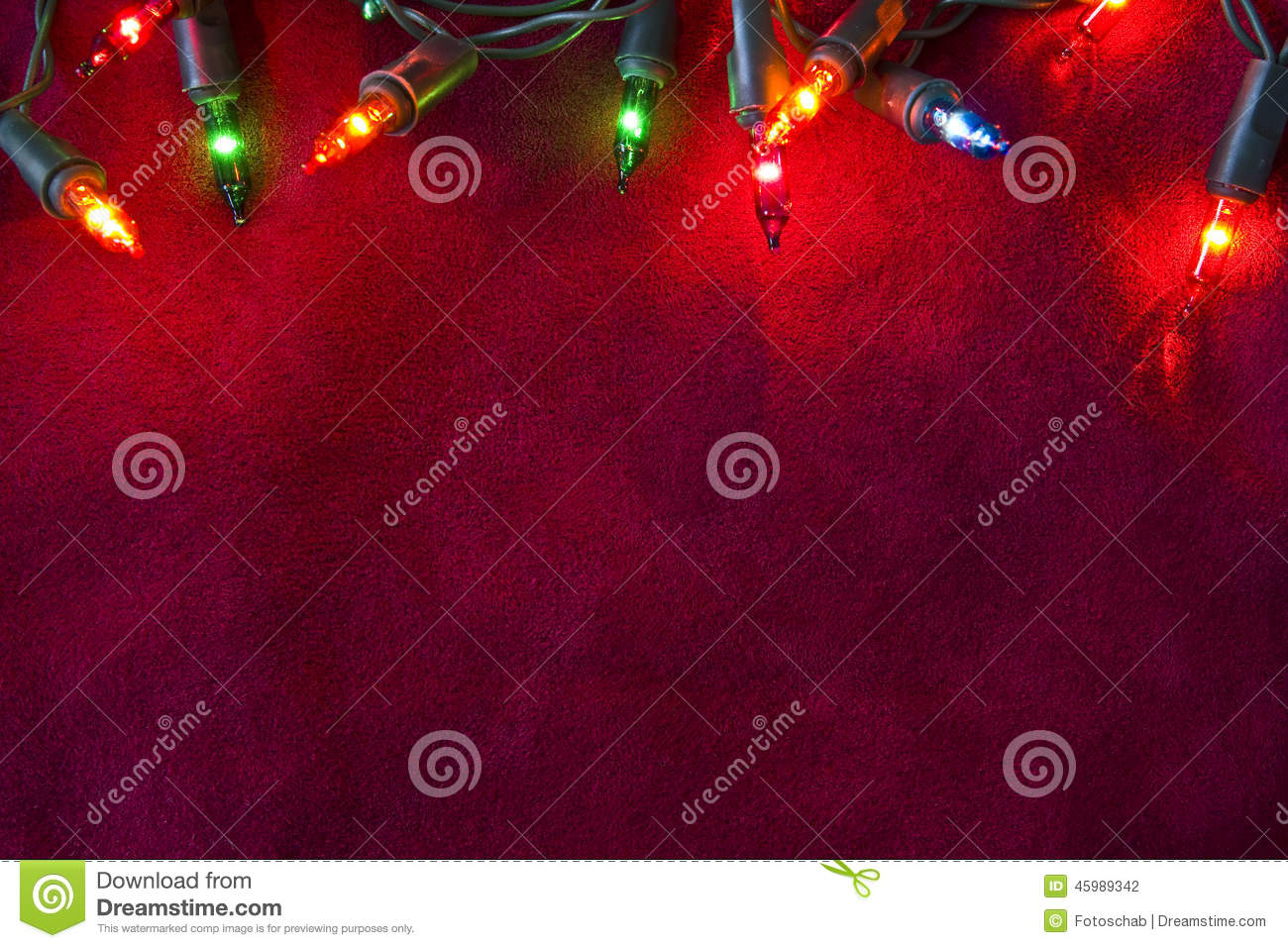 Christmas lights border stock photo image 45989342 for Red space fabric