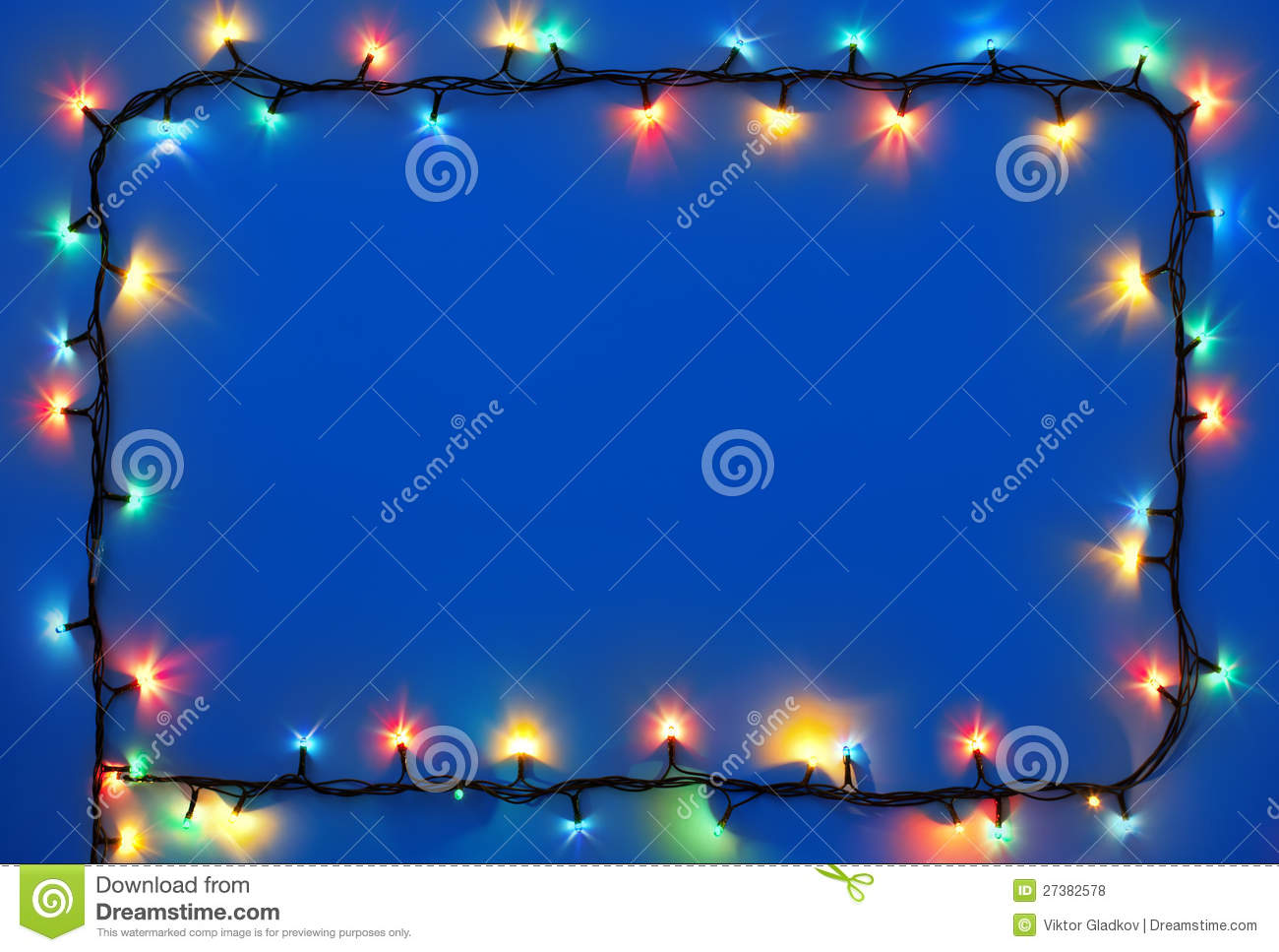 Christmas Lights On Dark Blue Background Royalty Free Stock Photos ...