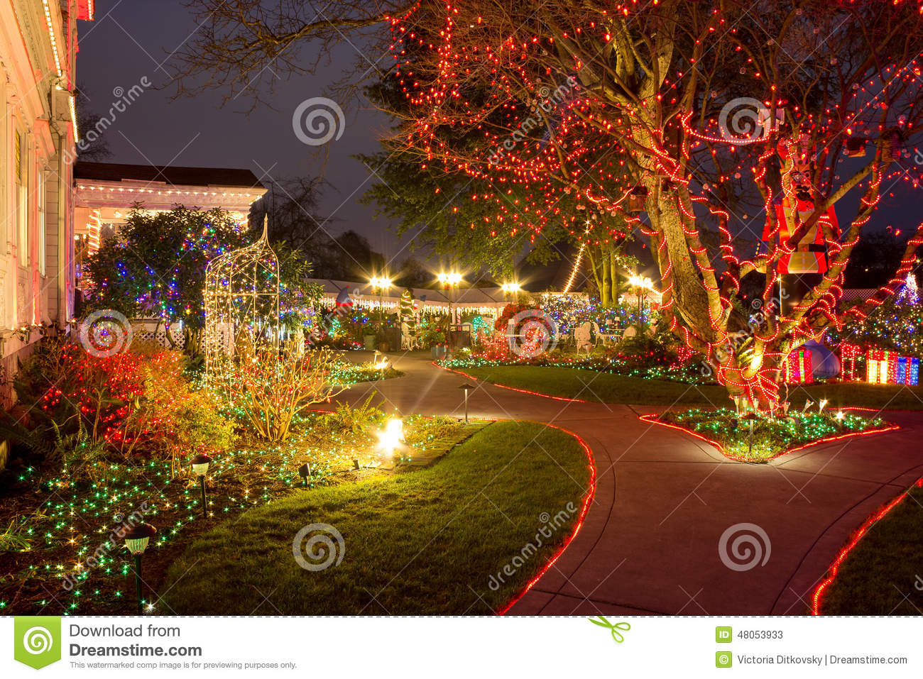 christmas lights festival opening in the victorian belle portland oregon stock photo 48053933 megapixl