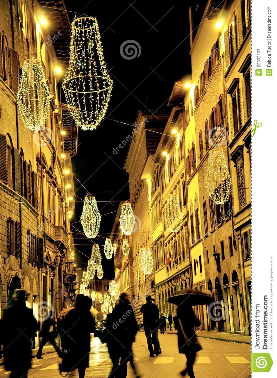 Christmas lights in Florence, Italy