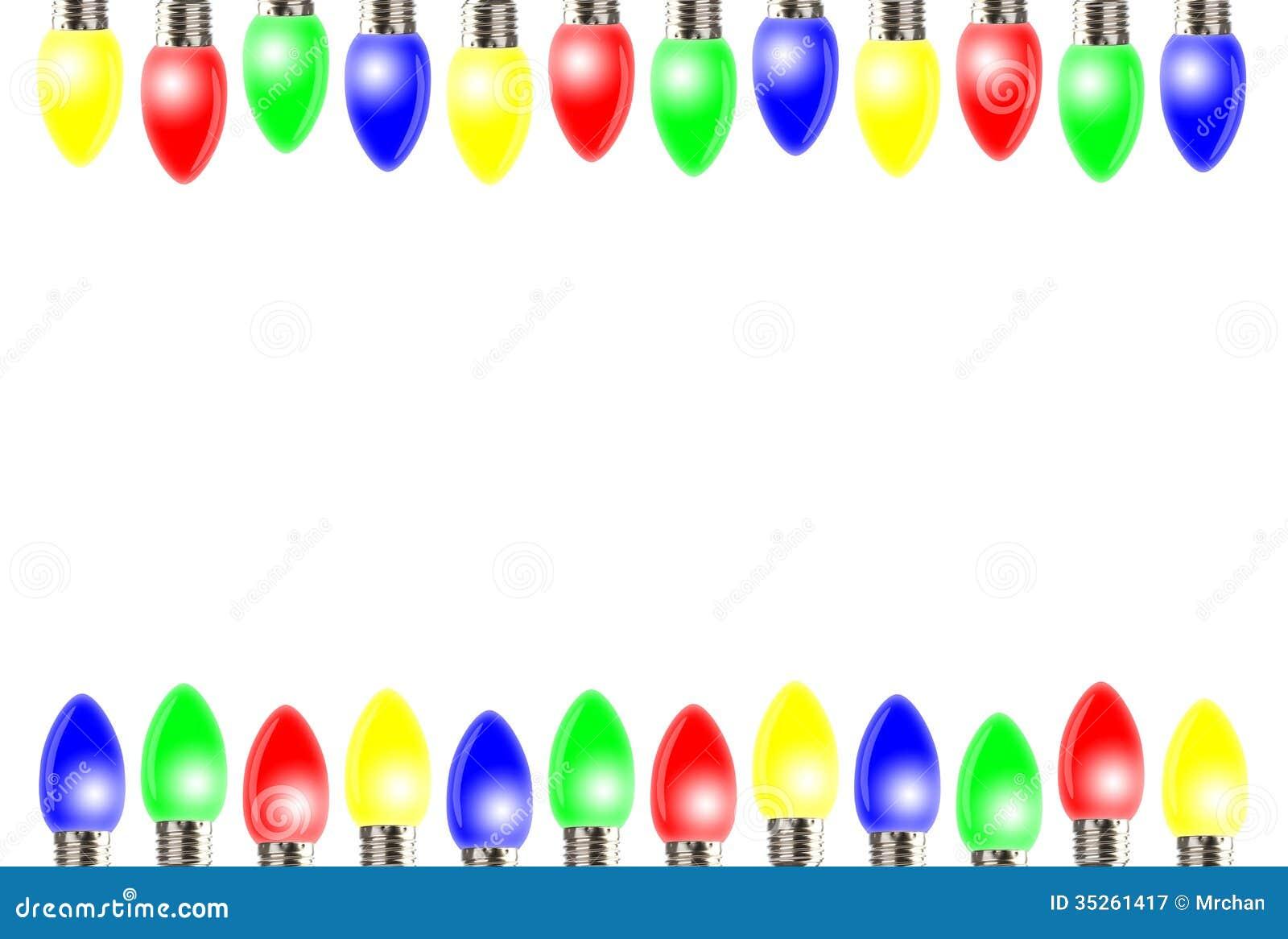 Christmas Lights Frame Royalty Free Stock Photography - Image: 35261417