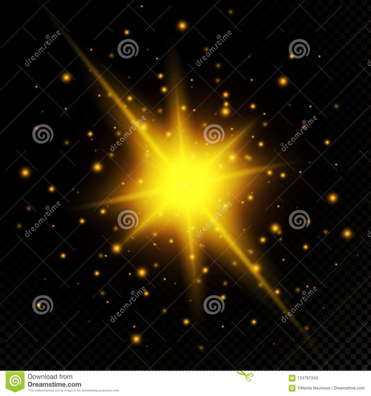 download light flare special effect illustration vector sparkles on black backgroundlight flare