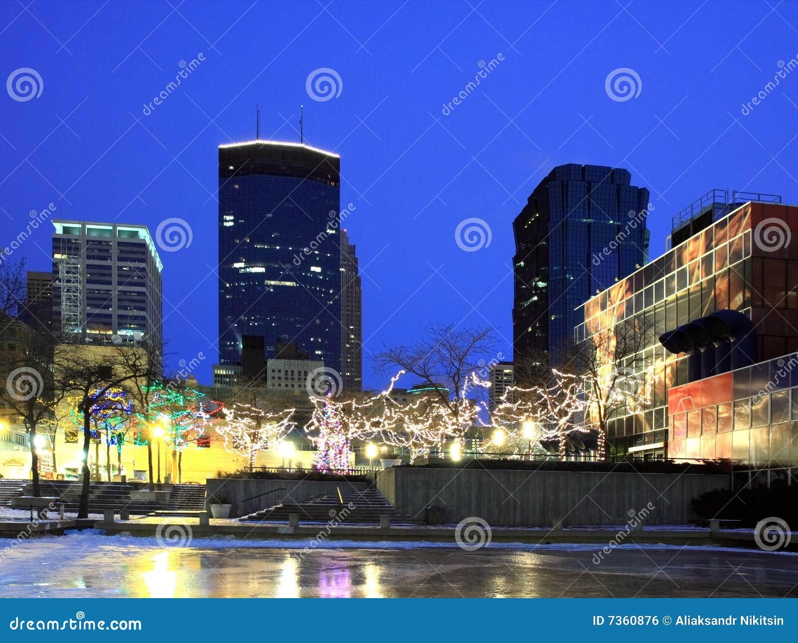 Christmas Lights Downtown