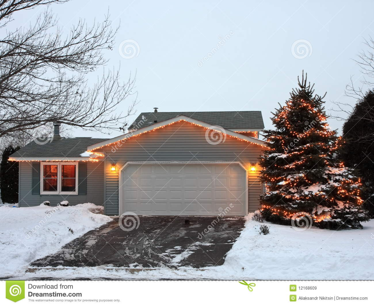 download christmas lights in minnesota with garage stock image image of ornaments xmas