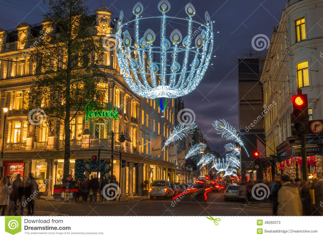 Christmas Lights On New Bond Street, London, UK Editorial ...
