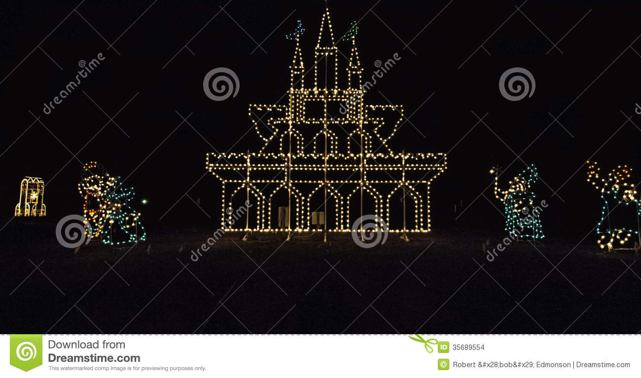 Download Christmas Lights In Pigeon Forge, TN Stock Photo   Image Of  Tennessee, Christmas