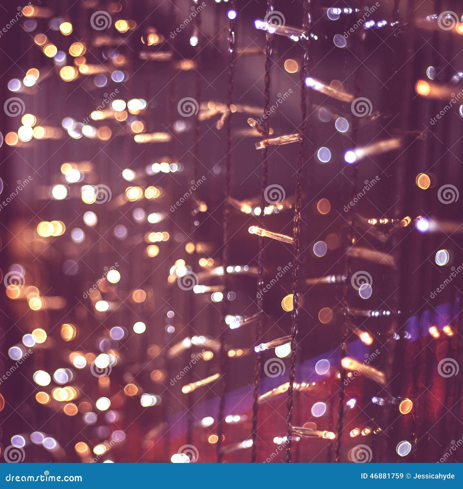 Download Christmas Lights Pink Bokeh Background Stock Image