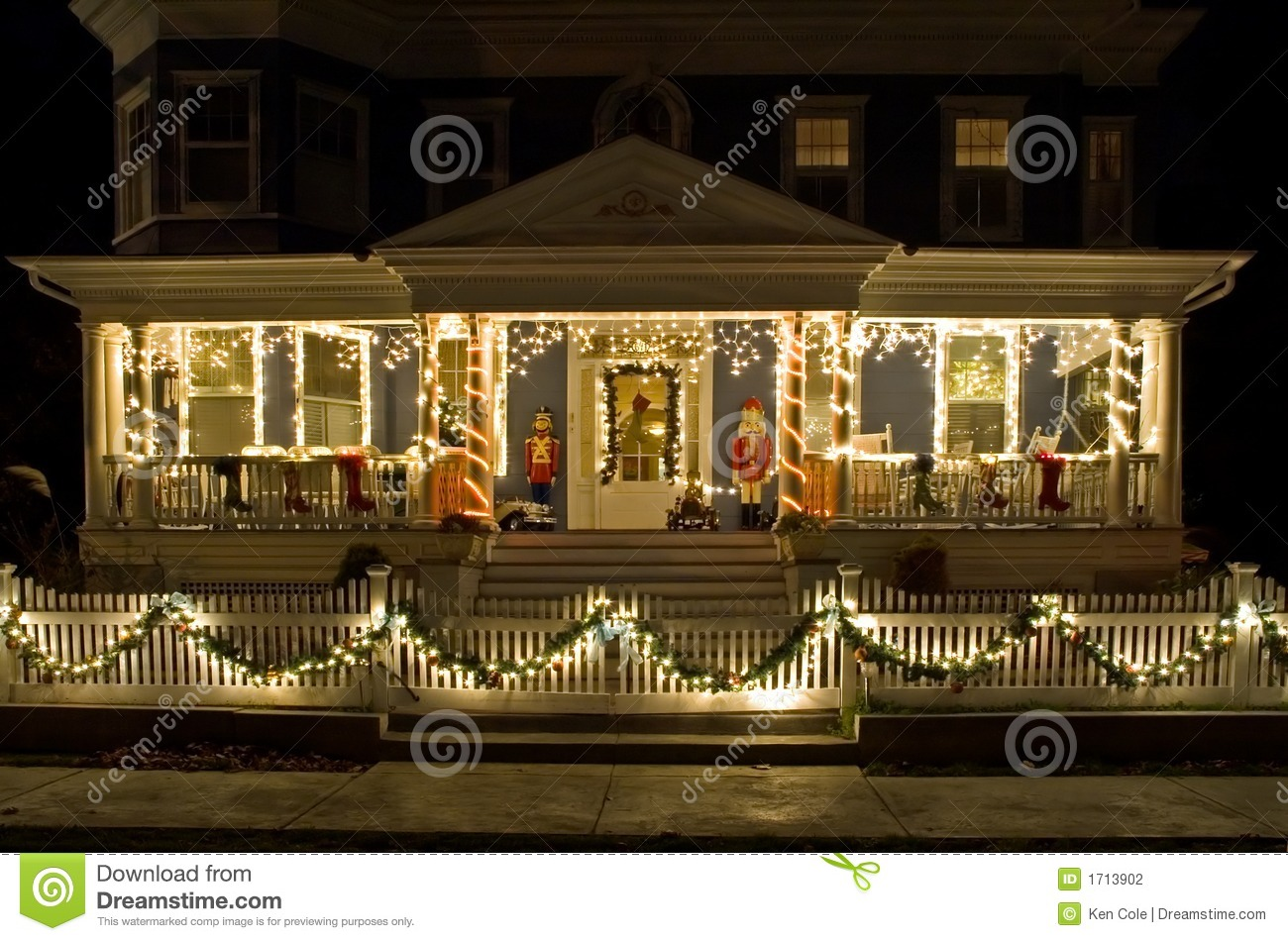 Christmas Lights On The Porch Stock Photography Image