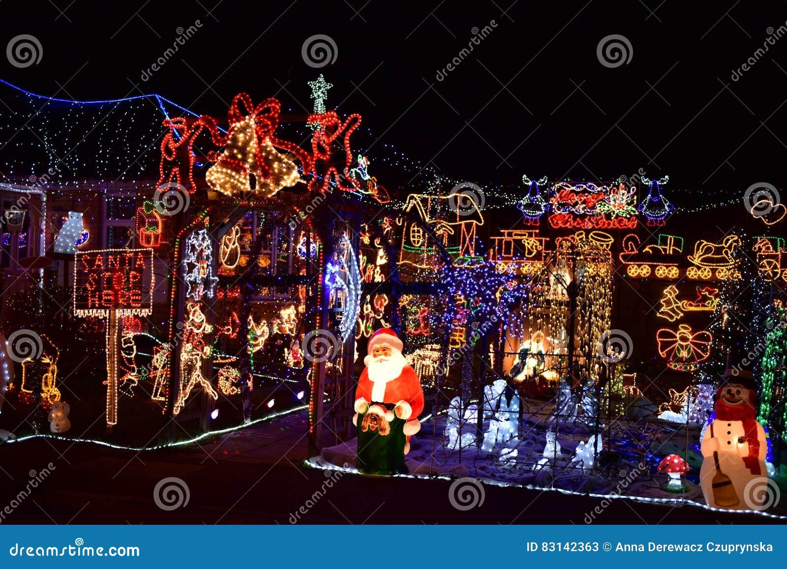 Christmas lights stock image. Image of lights, time, lighting - 83142363