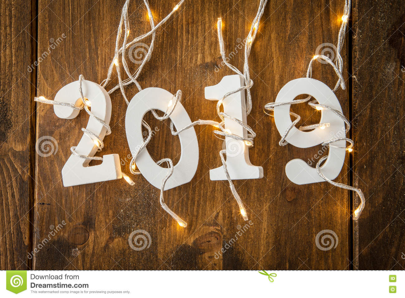 2019 With Christmas Lights Stock Photo Image Of Party 79979214