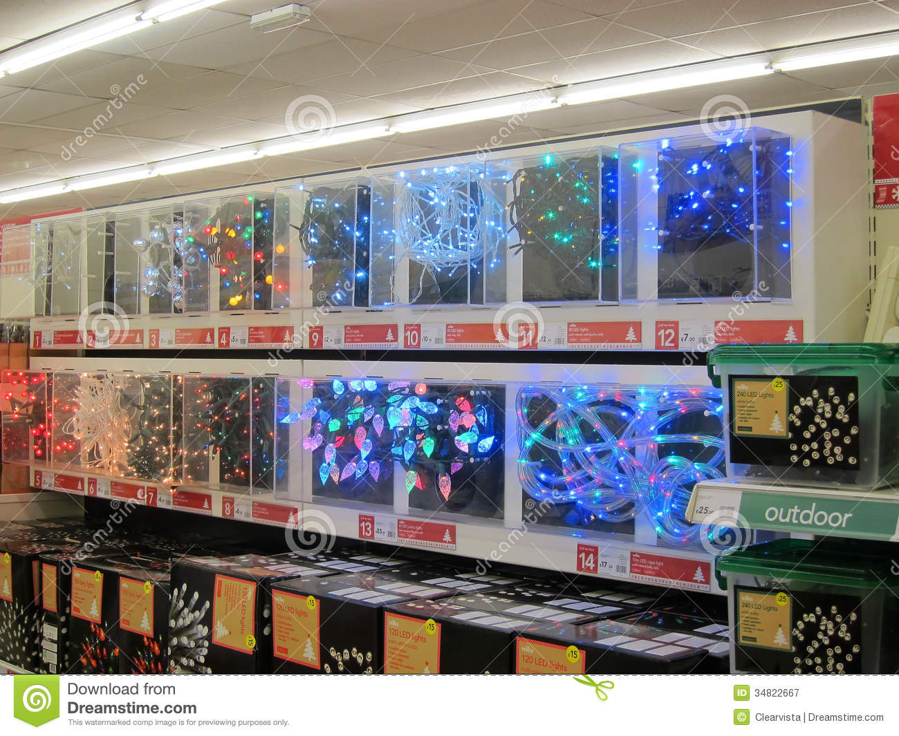 editorial stock photo download christmas lights - Christmas Lights Store