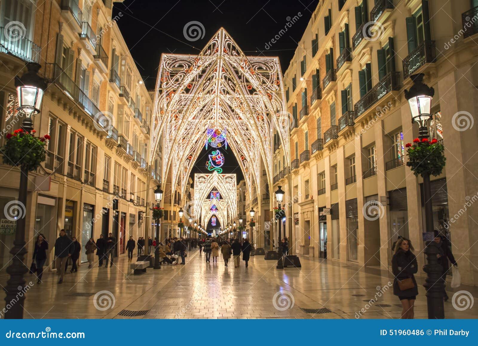 Christmas Lights Spain editorial photo. Image of christmas ...