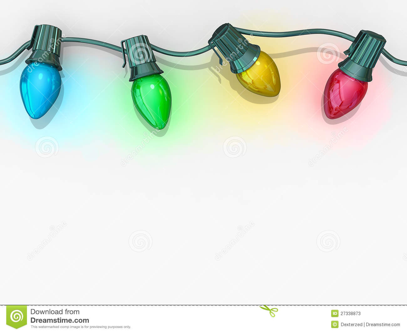 Christmas Lights String Stock Photos - Image: 27338873